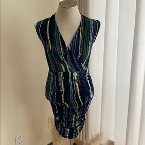Multi colored wrap dress